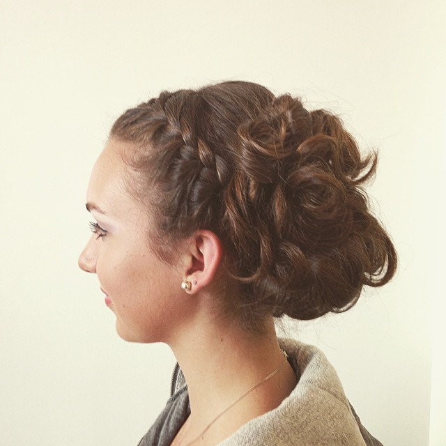 prom season updo braids